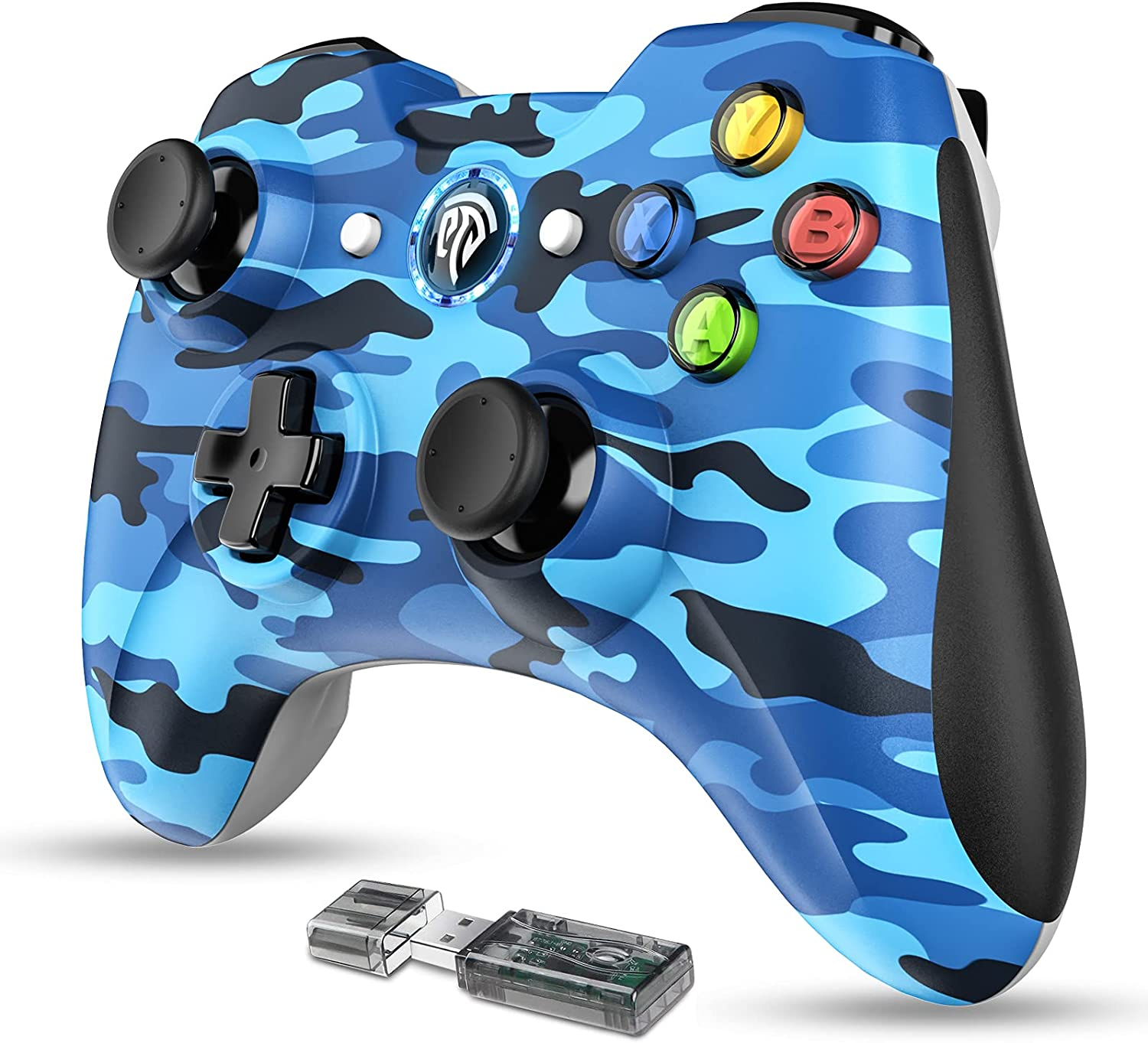 EasySMX Wireless 2.4g Gaming Controller Support for PC (Windows XP/7/8/8.1/10) and PS3, Android, Vista, TV Box Portable Gaming Joystick Gamepad-Blue