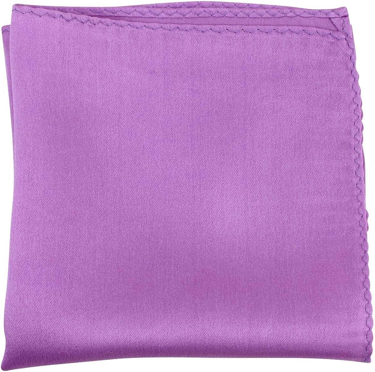 Knightsbridge Neckwear Mens Fine Silk Pocket Square - Deep Lilac