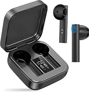 Auriculares Inalámbricos Bluetooth 5.0, Auriculares Deportivos, con Micrófono, Impermeable True Wireless Earbud, Sonido es...