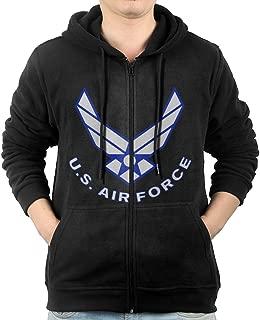 LuosisiJia Hoodie Sweatshirt Men's US Air Force Long Sleeve Zip-up Hooded Sweatshirt Jacket