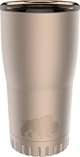 Silver Buffalo NL112195 Double Walled Stainless Steel Travel Tumbler, 20-Ounces, Matte Gold