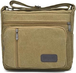 Lightweight Messenger Travel Bag Vintage Heavy Duty Canvas Shoulder School Bag Unisex