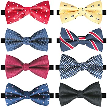Dinner Party Unisex Bow Tie Adjustable Pre-Tied Classical /& Formal For Club