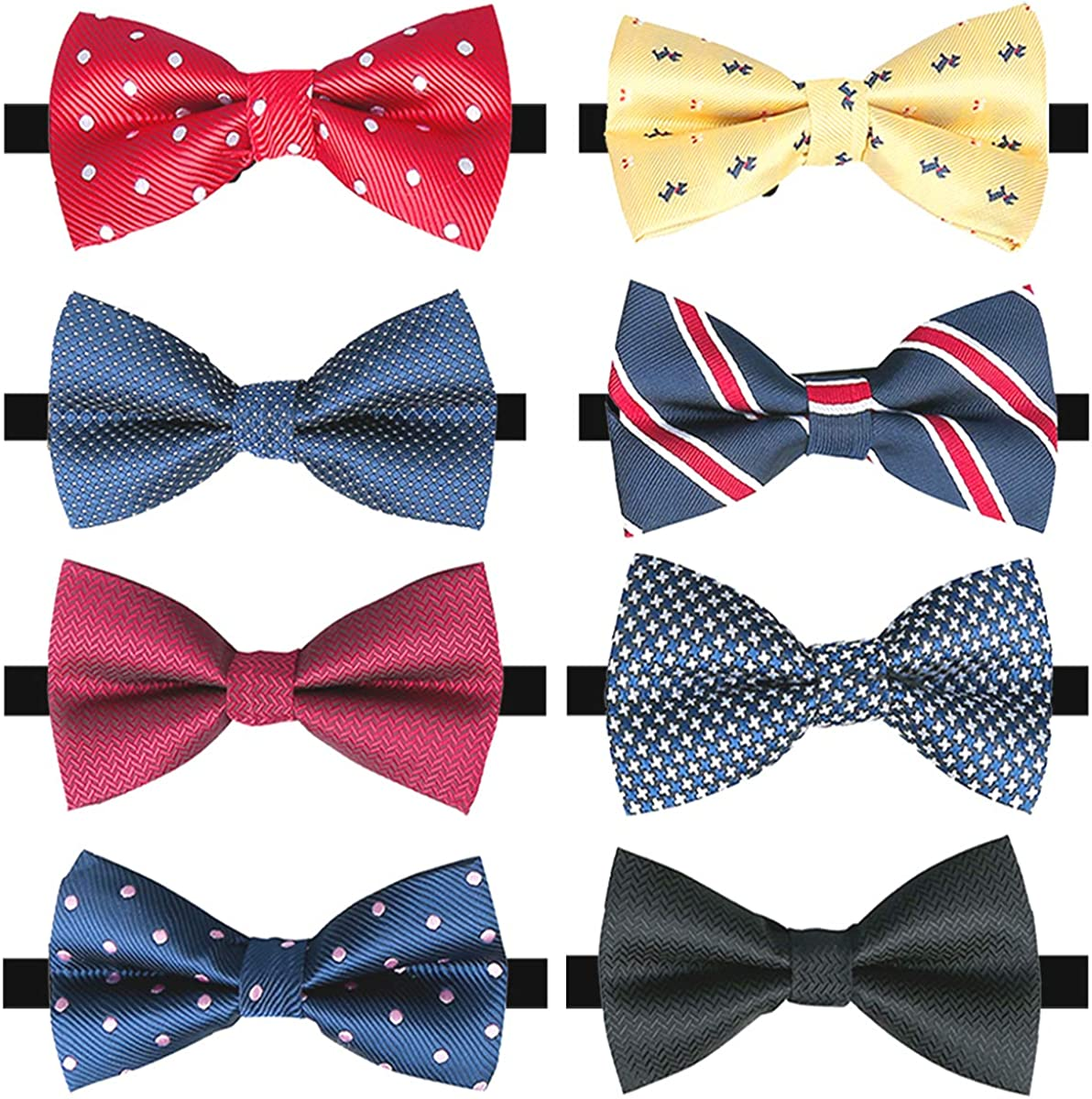 Elegant Fashionable Pre-tied Bow ties Formal Bowtie with Adjustab Set Tuxedo Ranking TOP7