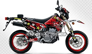 Kungfu Graphics Custom Decal Kit for Suzuki DRZ 400 SM Supermoto 1999 2000 2001 2002 2003 2004 2005 2006 2007 2008 2009 2010 2011 2012 2013 2014 2015 2016 2017 2018 2019, Black Red,SZDRSE9919015