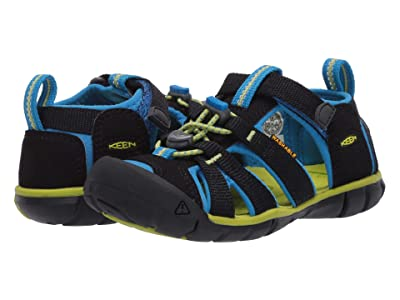 Keen Kids Seacamp II CNX (Toddler/Little Kid) (Black/Brilliant Blue) Kids Shoes