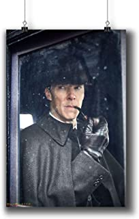 Sherlock TV Series Poster Small Prints 010-330 Sherlock Holmes Benedict Cumberbatch,Wall Art Decor for Dorm Bedroom Living Room (A3|11x17inch|29x42cm)