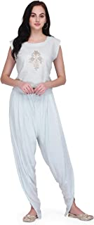 Pret A Porter Women's Sushi Voile Party Wear Crop Top With Palazzo