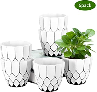 ZOUTOG Small Planter, 4.5 Inch Decorative Planters, Small Flower Pots for Plant Hangers, Succulents, Herbs, Little Snake P...