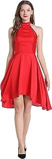 SZTSAGET 35461 RED Halter Dresses