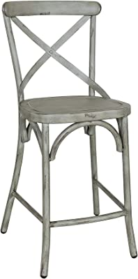 Fine Amazon Com Acme Kaelyn Ii 27 Counter Stool In Gray Oak And Creativecarmelina Interior Chair Design Creativecarmelinacom