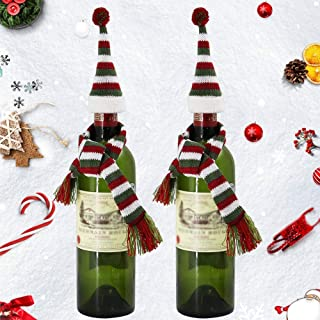 Best santa hat and scarf for wine bottle Reviews