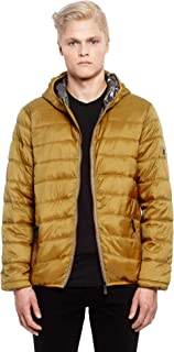 Beltline Men's Lightweight Jacket, Quilted 100% Vegan Down Puffer Coat, Packable Jacket