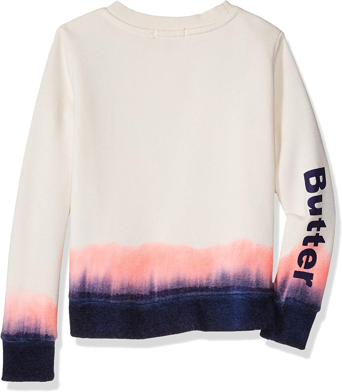Butter Girls Hem Dip Fleece Pullover Sweatshirt