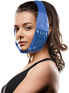 Hot Cold Jaw and Forehead Ice Pack by FOMI Care   Flexible Gel Bead Wrap for TMJ, Wisdom Teeth, Oral and Facial Surgery, D...