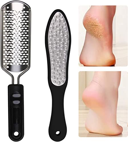 Oneleaf 2PCS Professional Pedicure Rasp Foot File Cracked Skin Corns Callus Remover for Extra Smooth and Beauty Foot