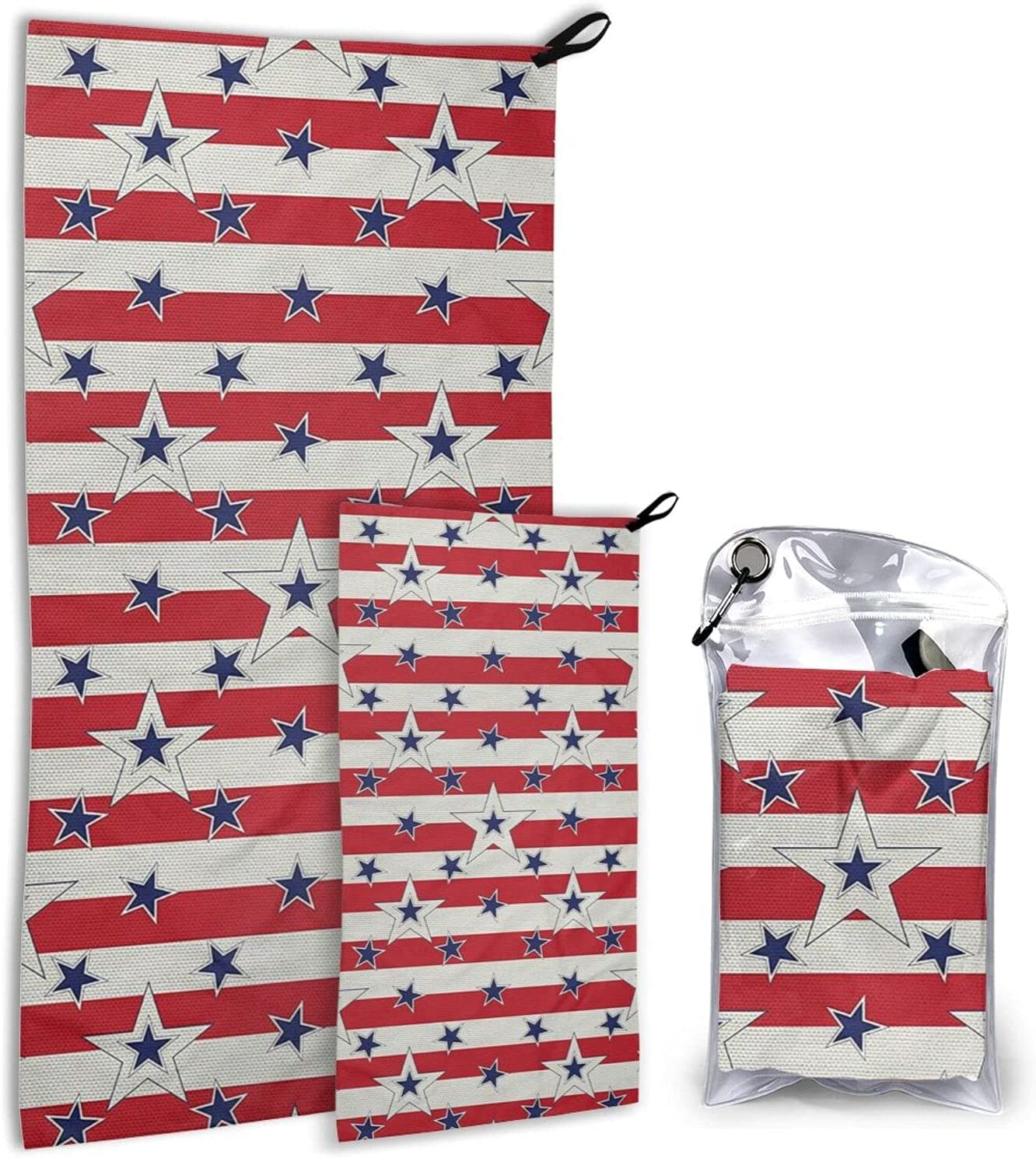 Patriotic Pattern Love Microfiber Towels 2 Pack Ca Quick low-pricing Ranking TOP19 Dry -