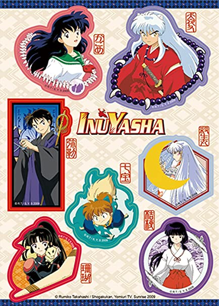 Amazon Com Inuyasha Characters Sticker Set Multicolor Toys Games