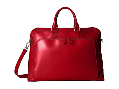 Lodis Accessories Audrey RFID Brera Briefcase With Laptop Pocket (Red RFID) Briefcase Bags