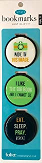 Inspirational Bookmark - Just Clip it! Quote Bookmarks - (Set of 3 clip over the page markers) - MADE in his IMAGE, I LIKE the BIG Book, EAT, SLEEP, PRAY