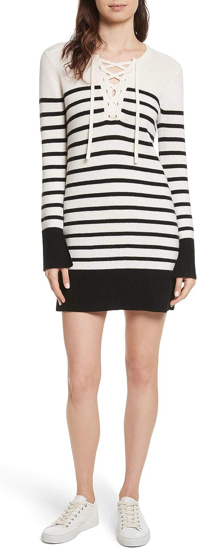Joie Womens Heltan Wool LaceUp Sweaterdress