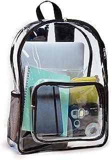 See Me - Mochila transparente con funda para portátil por JumpOff Jo – transparente, plástico resistente para hombres, mujeres y niños – mejora la seguridad en el trabajo, escuelas, estadios y conciertos.