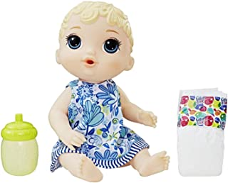 Baby Alive Doll - Lil Sips Baby Doll with Blonde Hair That Drinks & Wets incl Accessories - Nuturing Dolls and Toys for Ki...