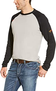 Men's Flame Resistant Long Sleeve Baseball TeeHenley Shirt