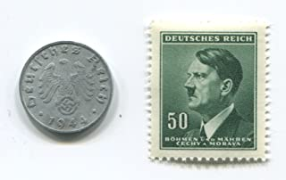 Rare Old WWII Germany 1 pfennig Coin stamp #6