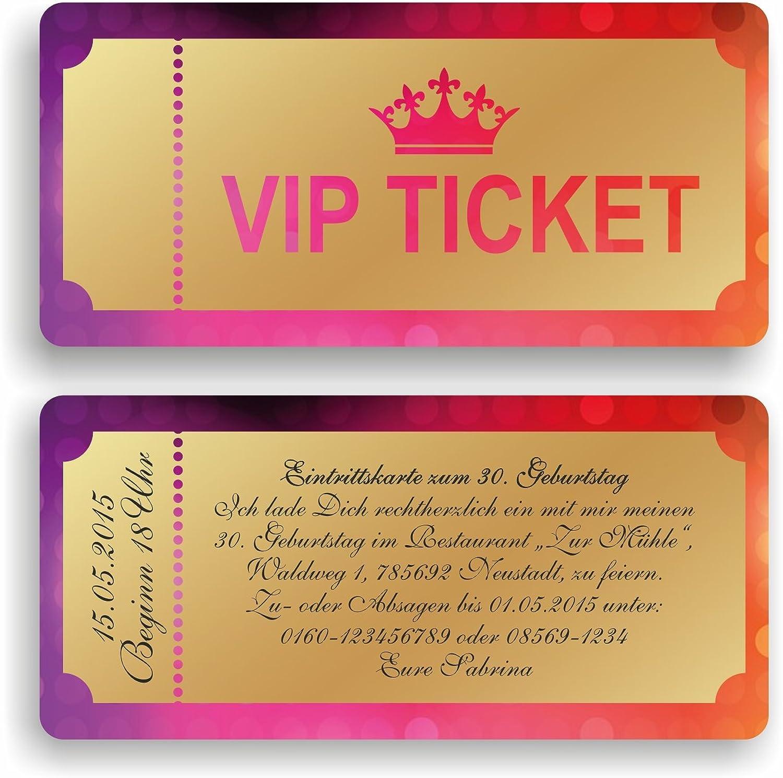 Einladungskarte Geburtstag Geburtstagskarte VIP Ticket Eintrittskarte Einladung (90 Stück) Stück) Stück) B06XBPGZ51 | Gewinnen Sie das Lob der Kunden  d8f4fe