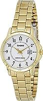 ساعة كاسيو للنساء LTP-V004G-7B - انالوج، رسمية