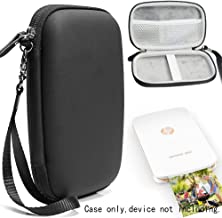 Matte Black Protective Case for HP Sprocket Select and Sprocket Plus, Portable Photo Printer, Mesh Pocket for Photo Paper and Cable, Elastics Strap to secure device, Detachable Wrist Strap