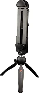 JAWKU Pro Compact Tripod Stand and Mount for Tablets and Smartphones, Compatible with iPad, iPhone, Android, Samsung Galaxy, and Most Other Brands of Cell Phones and Tablets