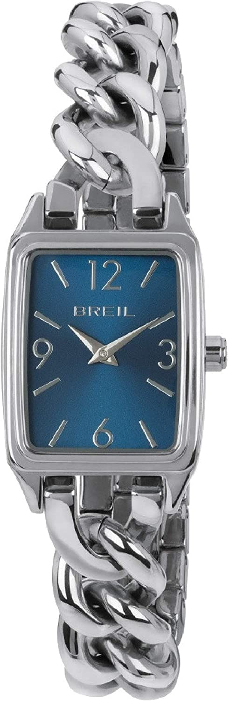 Reloj BREIL Mujer Night out Esfera Azul e Correa in Acero, Movimiento Solo Tiempo - 2H Cuarzo