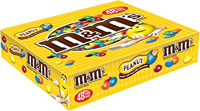 M&M'S Peanut Chocolate Candy Singles 1.74-Ounce Pouch 48-Count Box