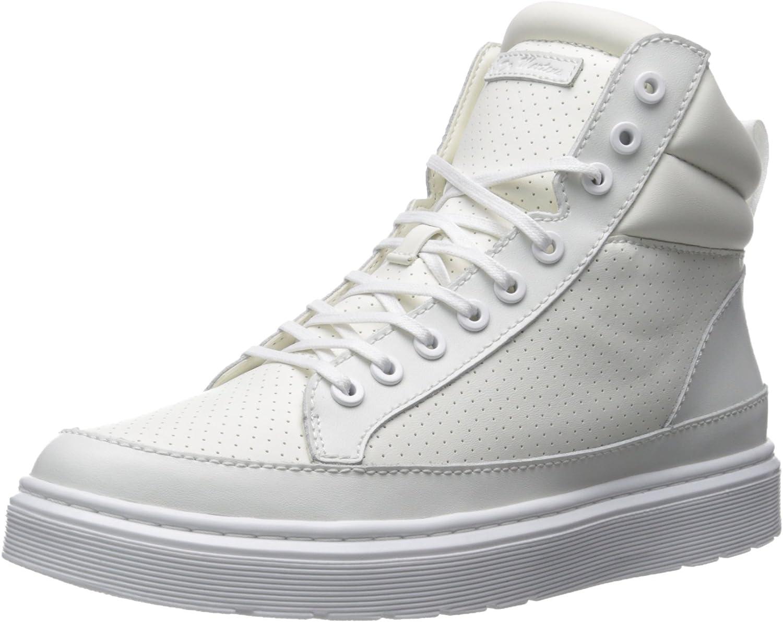 Dr. Martens Men's Lamar Lamper Perfed Pu White Boat shoes