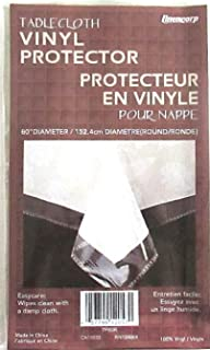 Everything Else Clear Plastic Tablecloth Protector 60