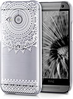 kwmobile Crystal Case for HTC One Mini 2 - Hard Durable Transparent Protective Cover - White/Transparent