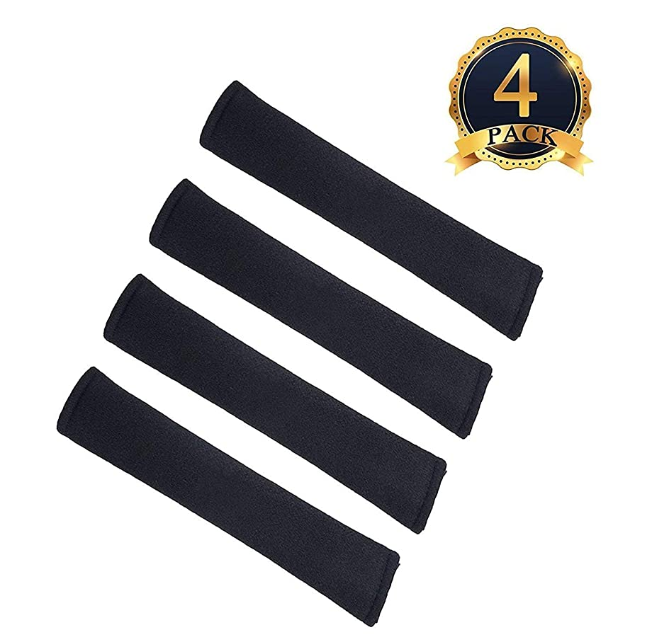 ilyever 4 Pack Universal Car Safety Seatbelt Shoulder Strap Pad Soft Headrest Neck Support Pillow Cover Cushion,No Slip,No Rubbing - A Must Have for All Car Owners for a More Comfortable Driving