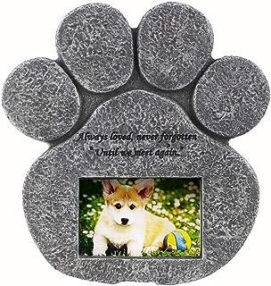 JHP ペット記念 お墓 犬の墓石 犬の足跡 肉球型 猫に通用 ペット供養 屋内と屋外に置ける フレーム 写真入れ ギフト