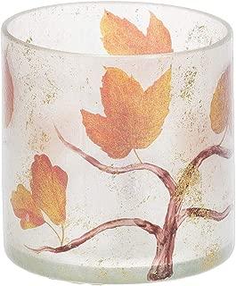 Ganz Fall Leaf Glass Candle Holder Small