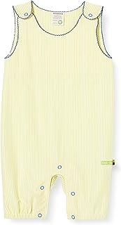 Loud + Proud Striped Short Overall Organic Cotton Grenouillère Bébé Fille