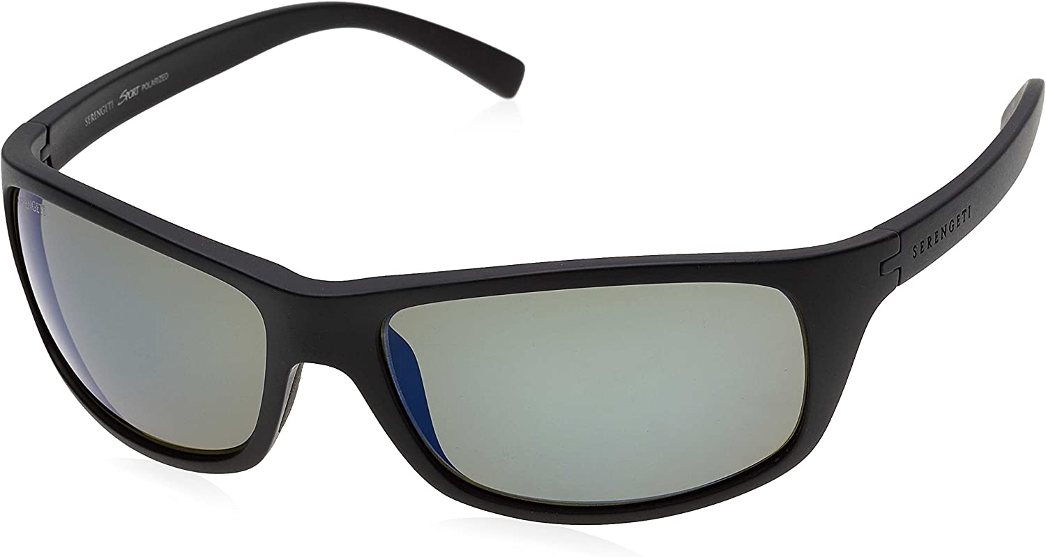 Serengeti 8166Bormio Bormio, Satin Black, Polar PhD 555NM blueee