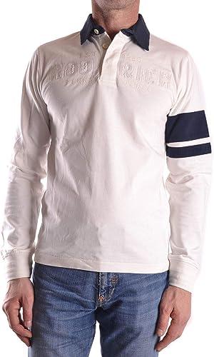 Woolrich Homme MCBI29340 Blanc Coton Polo