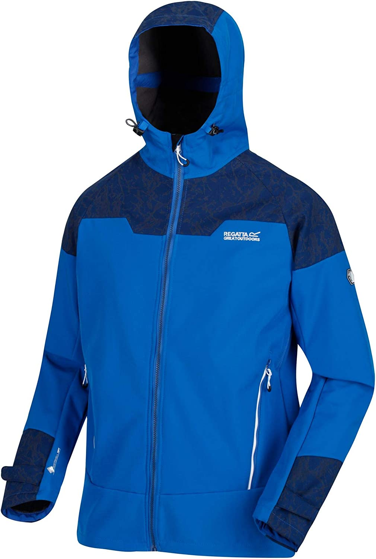 Regatta Herren Hewitts V Water Repellent Breathable /& Windproof Reflective Hooded Softshell Jacket Softshell