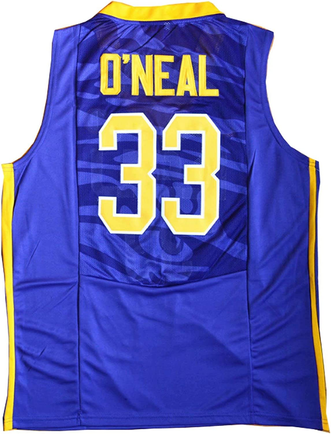 MLOP Men Fans/Gift College Athletic Jersey Screen Print #33 Shaq Universities Basketball Team/ Player Breathable Jersey S-3XL