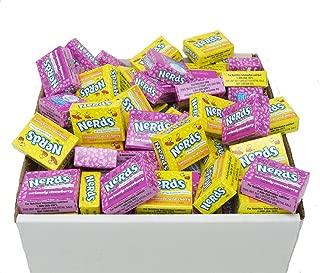 Wonka Nerds Candy Mini Boxes - Seriously Strawberry and Lemonade Wild Cherry Assortment, 2 LB Bulk Candy