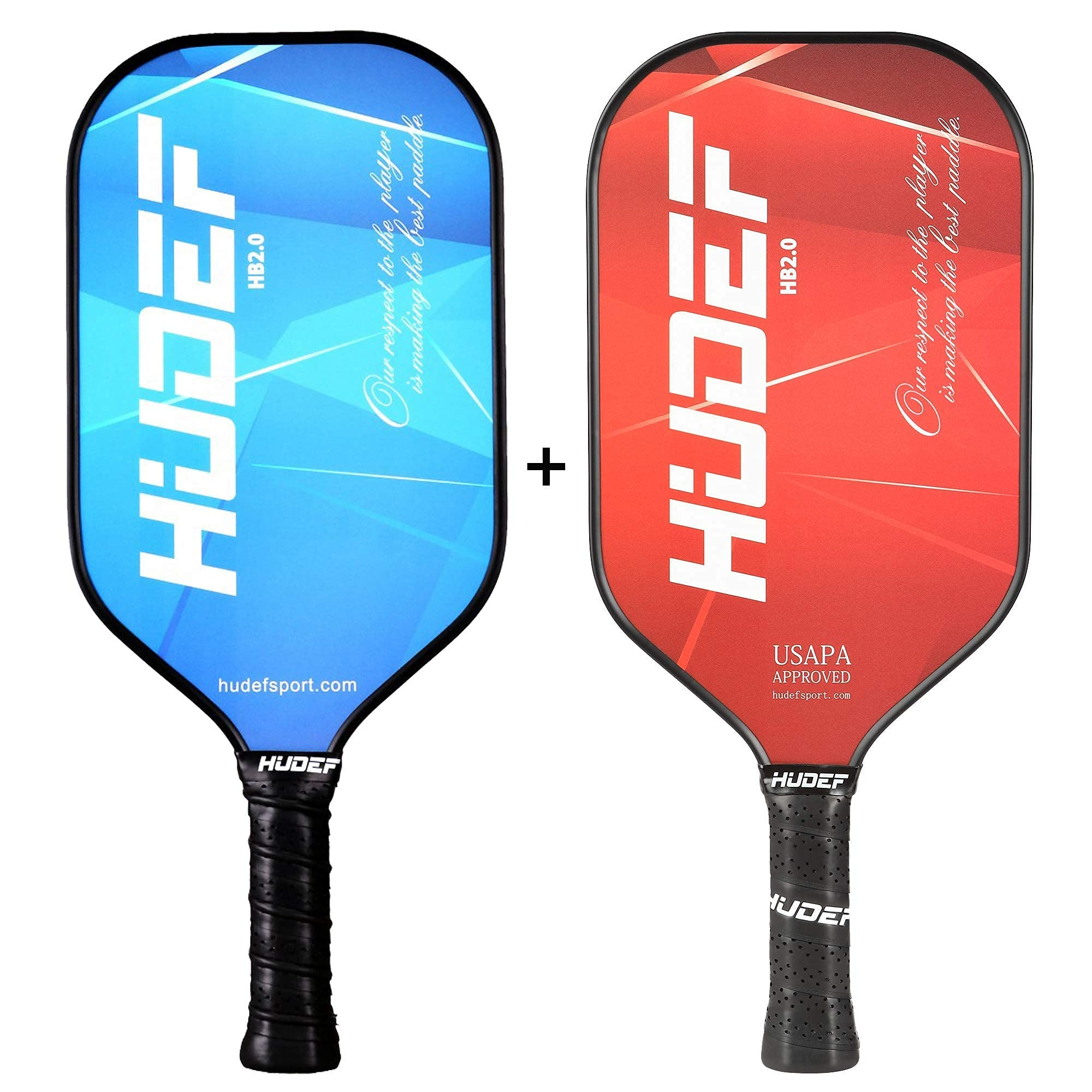 HUDEF HB 2.0 Blue+Red Pickleball Paddles Lightweight Graphit
