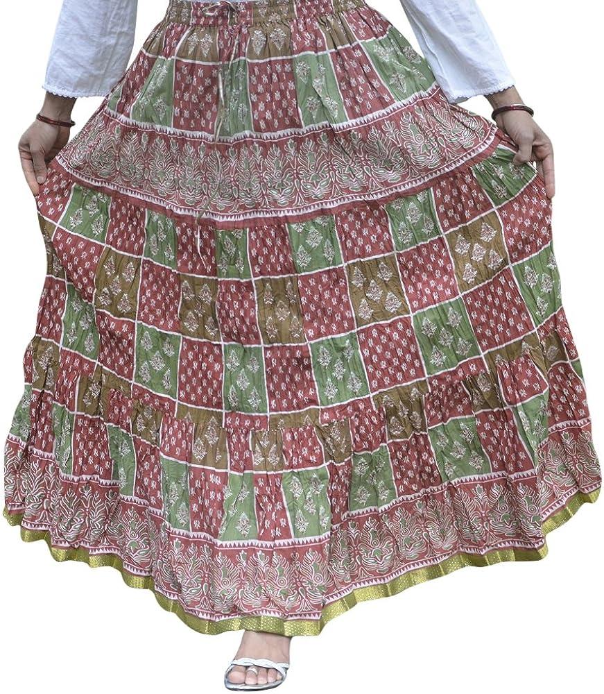 Ahaarya Gypsy Boho Long Cotton Skirt