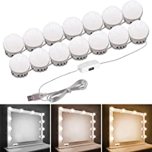 Pretmess Hollywood Style Vanity Mirror Lights Kit, Adjustable Color and Brightness with 14 LED Light Bulbs, Lighting Fixtu...